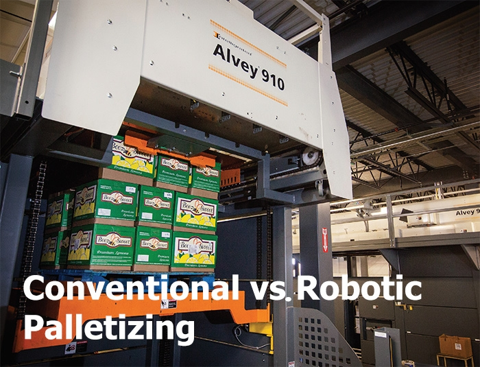 Conventional vs. Robotic Palletizing