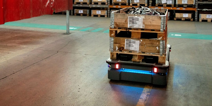 MiR500 Mobile Cobots Make Traffic Safer in Kverneland's Factory
