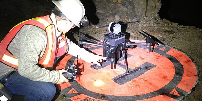 Autonomous Drones Provide Information on Remaining Resources in Historic Mining Area