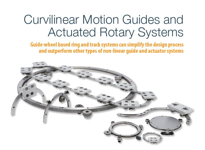 Curvilinear Motion Guides and Actuated Rotary Systems