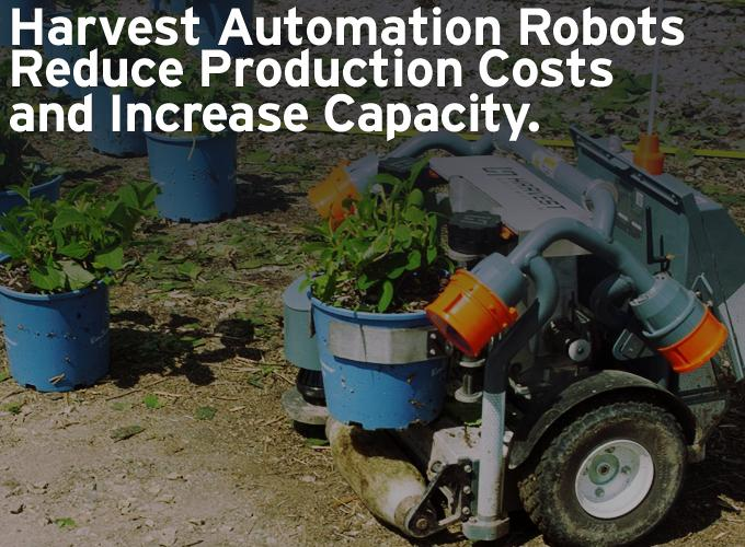 Harvest Automation Robots Reduce Production Costs and Increase Capacity