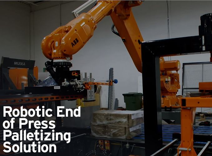 Robotic End of Press Palletizing Solution