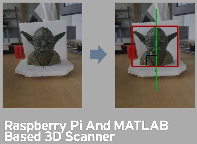 Raspberry Pi And MATLAB based 3D Scanner