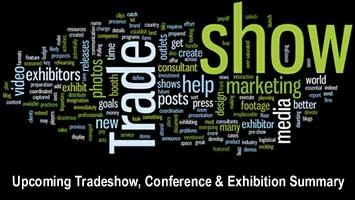 Upcoming Tradeshow, Conference & Exhibition Summary -  September - December 2016