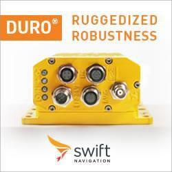 Swift Navigation's Duro Ruggedized RTK GNSS Receiver
