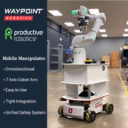 Waypoint Robotics/Productive Robotics Easy to Use, Omnidirectional 7 DoF Mobile Manipulator