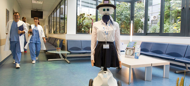 Image result for robotic hospital receptionist